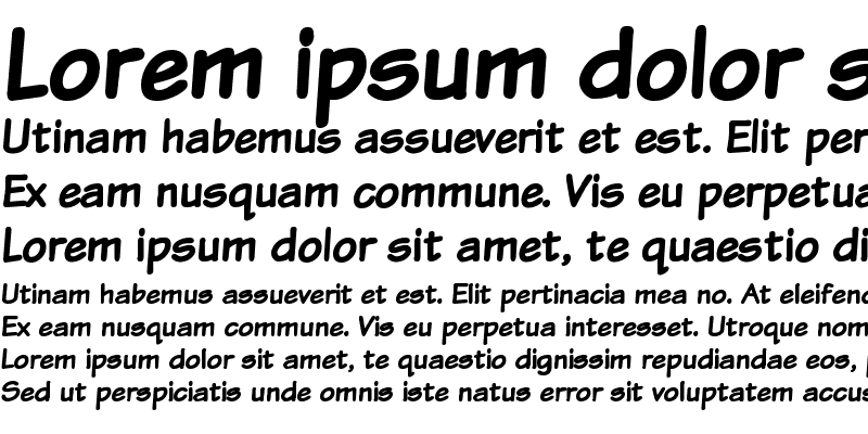 Sample of Komika Text Bold