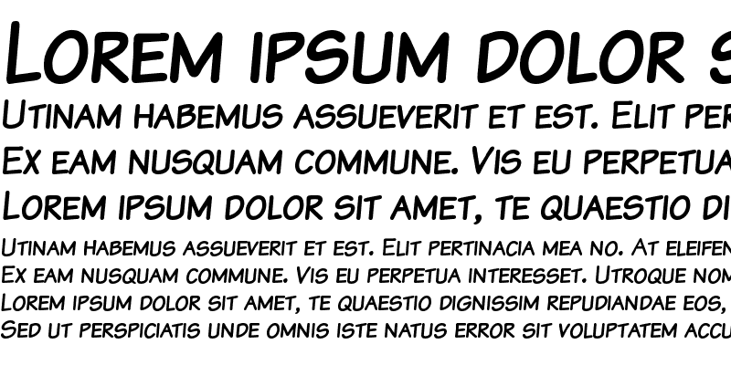 Sample of Komika Text Kaps Regular