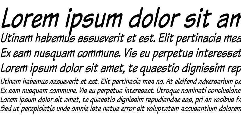 Sample of Komika Text Tight Italic