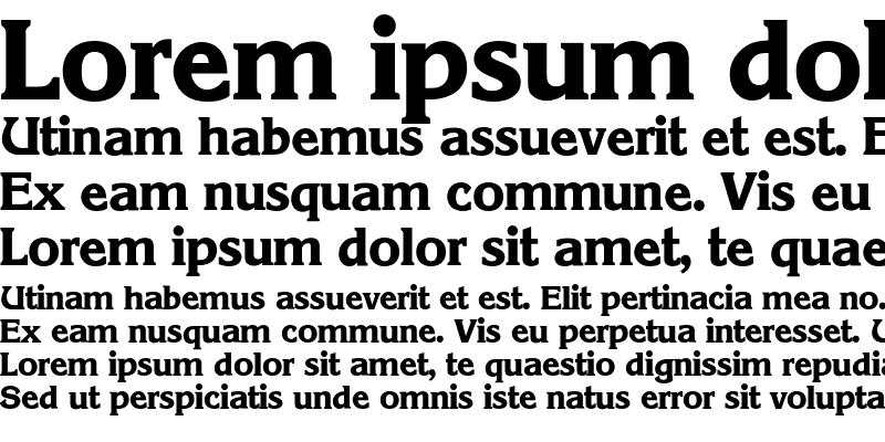 Sample of Korinth-Bold