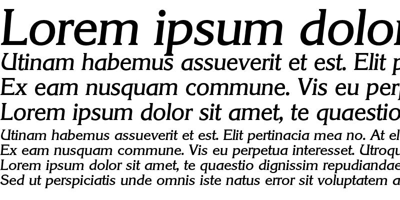 Sample of Korinth-MediumIta Regular