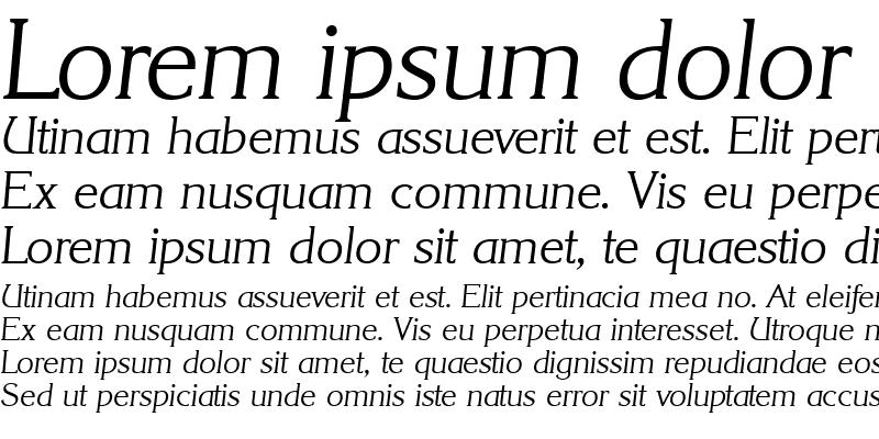 Sample of Korinth-Serial-Light RegularItalic