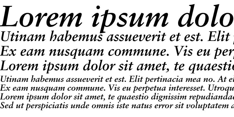 Sample of Korinthia Bold Italic