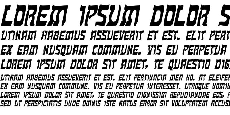 Sample of Kosher Bold Italic