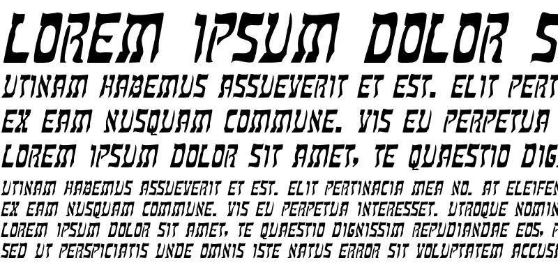 Sample of Kosher Italic