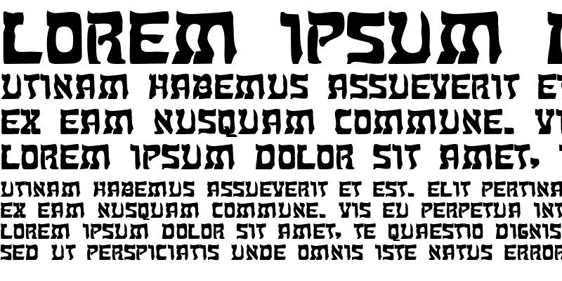 Sample of KosherExtended Bold