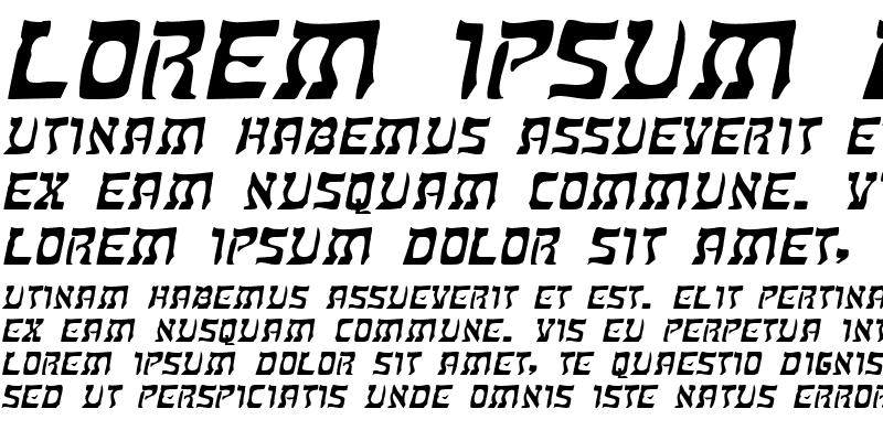 Sample of KosherExtended Italic