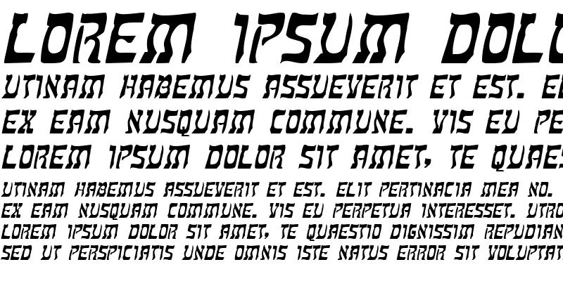 Sample of KosherWide Italic