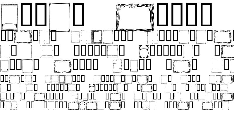 Sample of KR Deco Frames Regular
