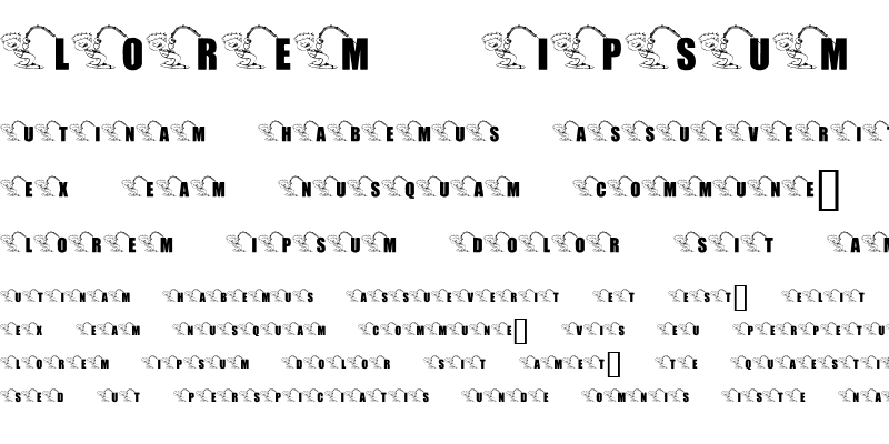 Sample of KR Font Fishin 2