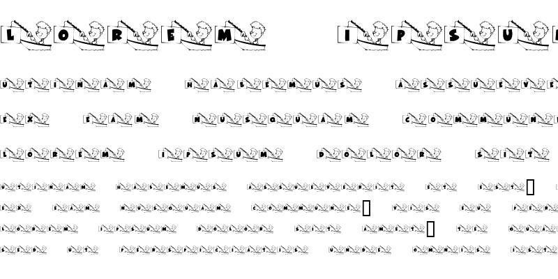 Sample of KR Font Fishin