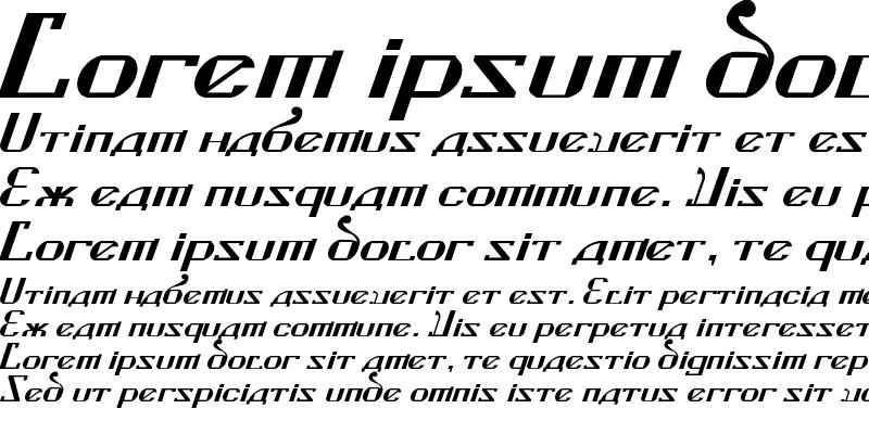 Sample of Kremlin Soviet Italic