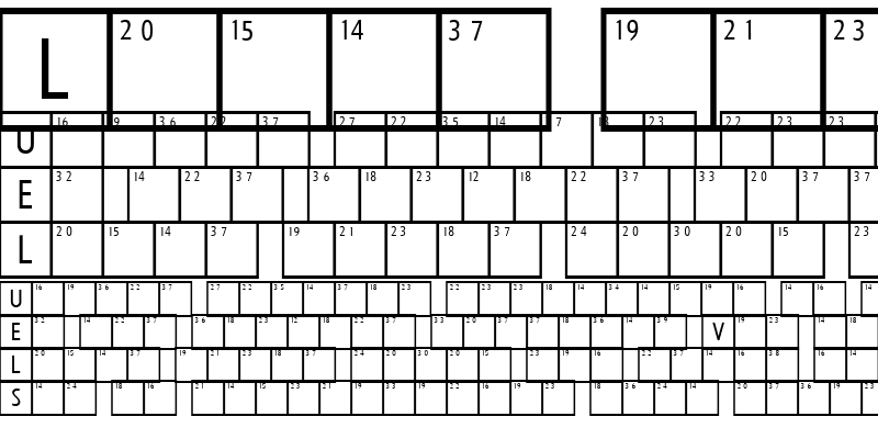 Sample of KreuzWort