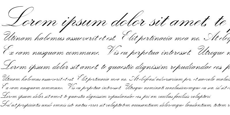 Sample of KunstlerschreibschDMed Regular