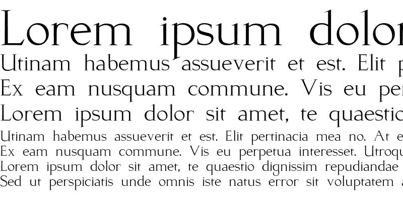 Sample of Kurosawa Serif