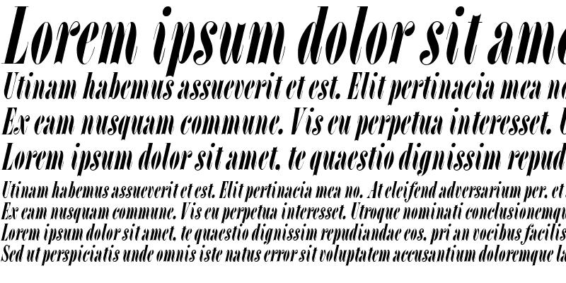 Sample of L Italic