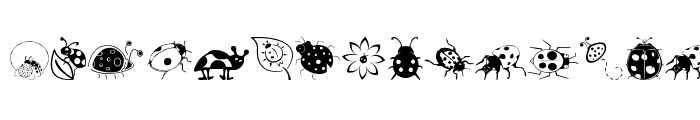 Preview of Ladybug Dings Dingbats