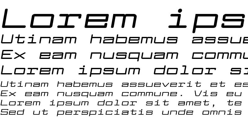 Sample of Larabiefont Xtrawide Bold Italic