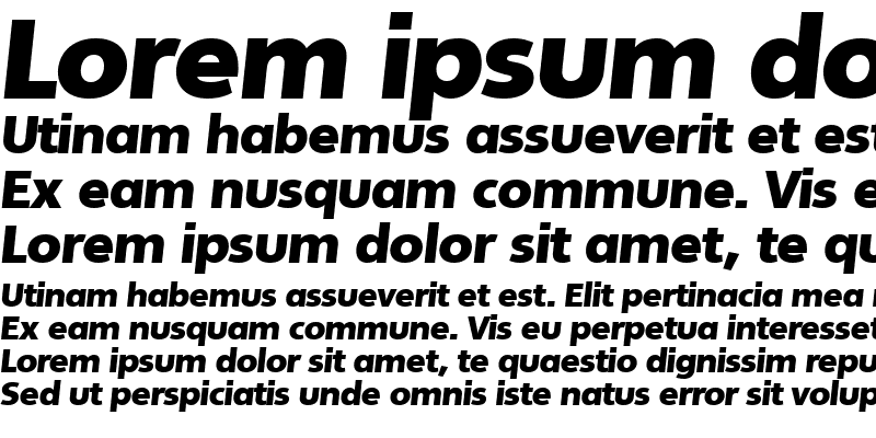 Sample of LarryBecker-Black Italic