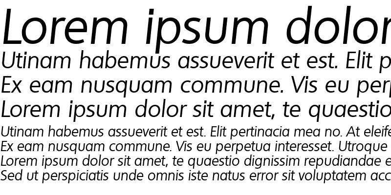 Sample of LarryBecker Italic