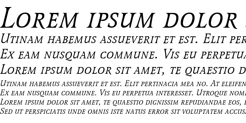 Sample of Latienne Becker Caps Italic