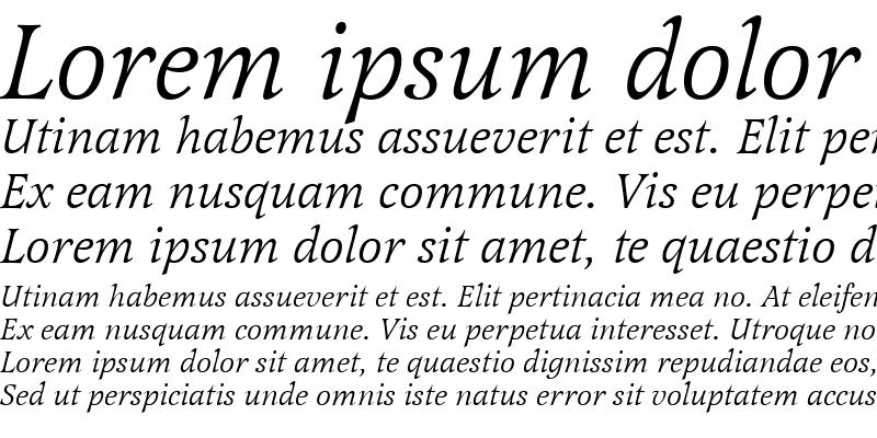 Sample of Latienne Becker Italic