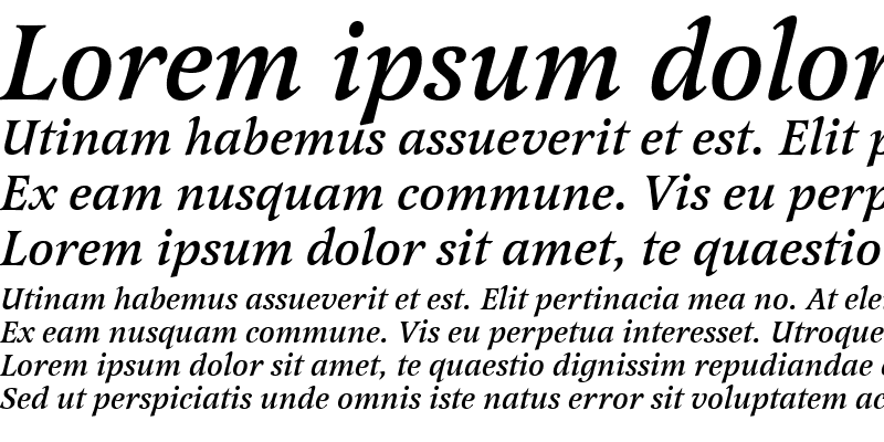 Sample of Latienne Becker Med Italic