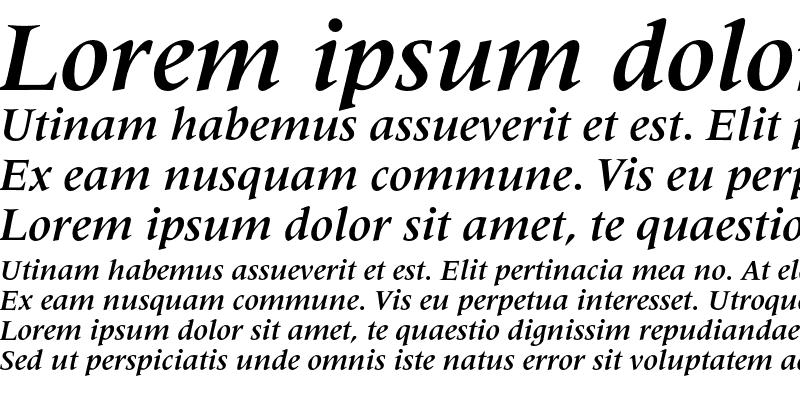 Sample of Latin 725 Bold Italic
