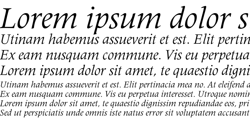 Sample of Latin 725 Italic