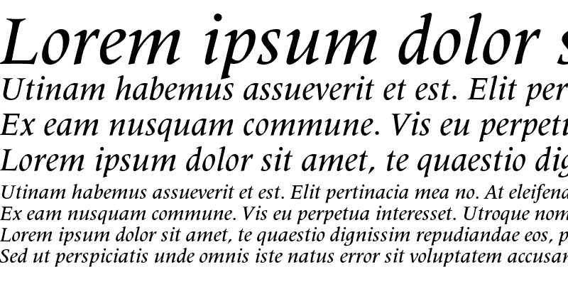 Sample of Latin 725 Medium Italic