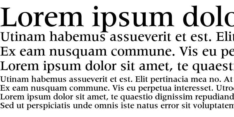 Sample of Latin 725 Medium