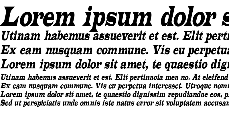 Sample of Latin-Condensed Italic