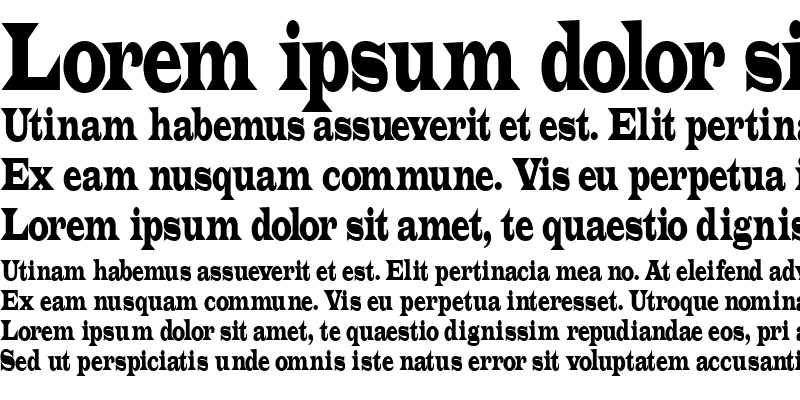 Sample of Latin-Condensed Normal