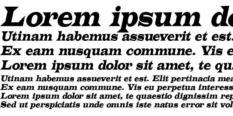 Sample of Latin Italic