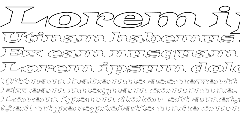 Sample of Latin-WideExtObl-Normal Hollow