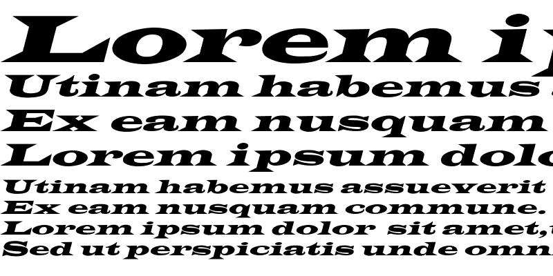 Sample of Latin-WideExtObl-Normal Regular