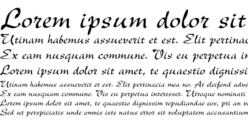 Sample of Latina Italic