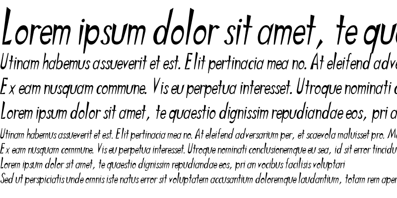 Sample of Lattice Oblique