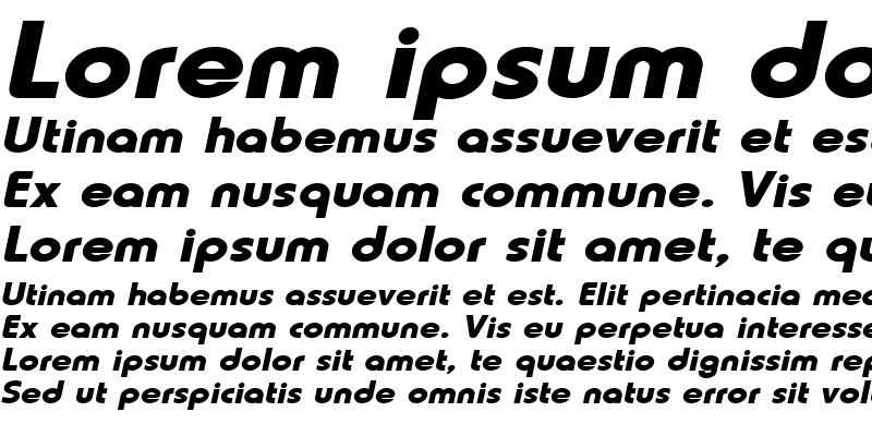 Sample of Lauren-Extended Bold Italic