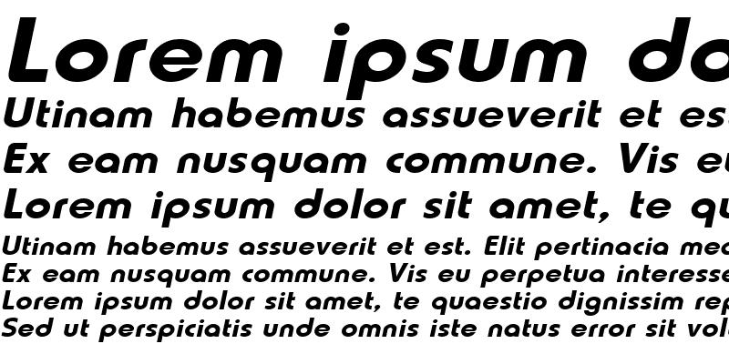Sample of Lauren-Extended Italic