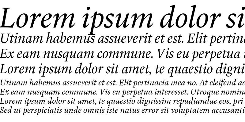 Sample of Laurentian Std Italic