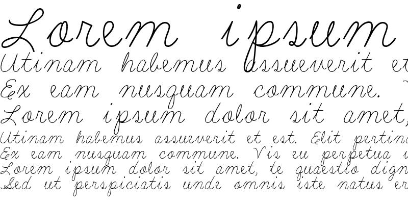 Sample of LD Fine Script 5