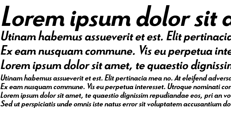 Sample of Le Havre Bold Italic