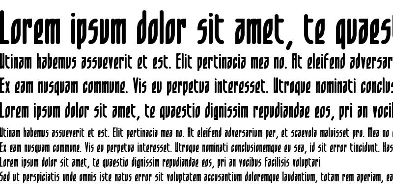 Sample of Leaflet Bold