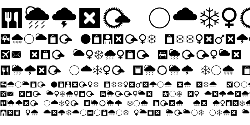 Sample of Leitura Symbols Dingbats