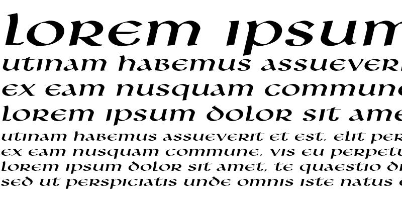 Sample of Leo Extended Italic