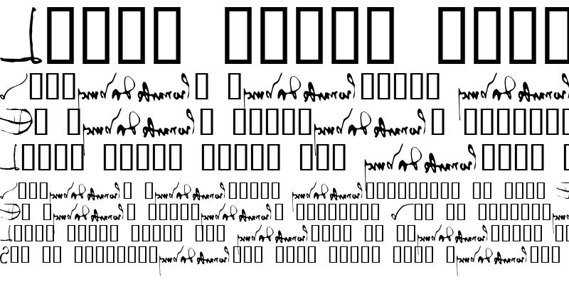 Sample of Leonardo's mirrorwriting