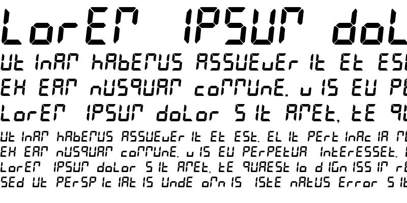 Sample of LESLIE