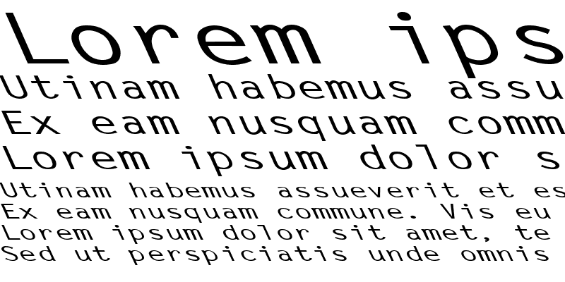 Sample of Letter Gothic-Bold Ex Left