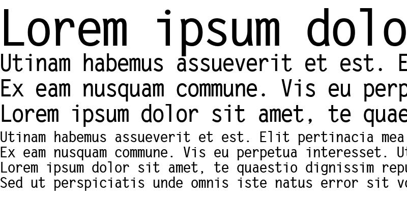 Sample of Letter Gothic Bold